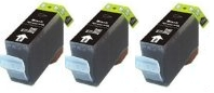 3 x Black Canon BCI-3BK (BCI-3EBK) Compatible Ink Cartridges for Canon S400