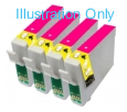 4 x Magenta Epson T0713 - T0893 Compatible Ink Cartridges for Epson SX110