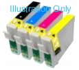 Epson T0715 Compatible Ink Cartridges - 1 Full Set for Epson SX110