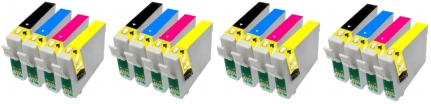 Epson T0715 Compatible Ink Cartridges - 4 Full Sets for Epson DX6000
