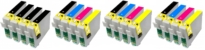3 x Multipacks Compatible with Epson T0715 Plus 4 Extra Black