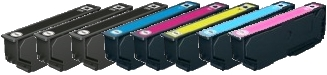 Compatible Epson T2438 Ink Cartridges - 1 Full Set Plus 2 Extra Black for Epson XP-750