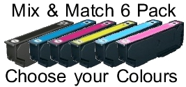 Epson T2431/2/3/4/5/6 Compatible Mix & Match 6 Pack for Epson XP-860
